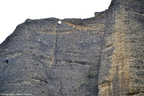 Détail des Pénitents des Mées, Alpes de Haute Provence