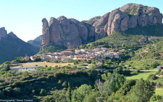 Les Mallos de Agüero, à 10km à l'Est de Riglos, Aragon, Espagne