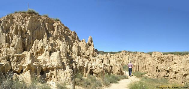 Los Aguarales de Valpalmas, mini badlands situés sur la commune de Valpalmas, province de Saragosse, Aragon, Espagne