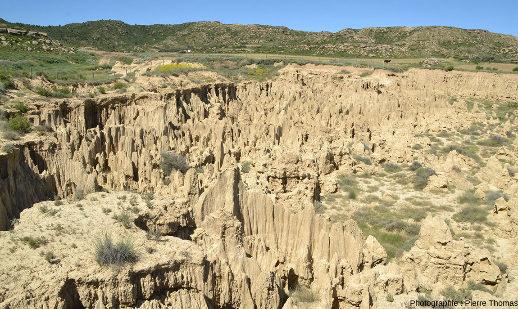 Zoom sur le centre droit de la figure précédente, Los Aguarales de Valpalmas
