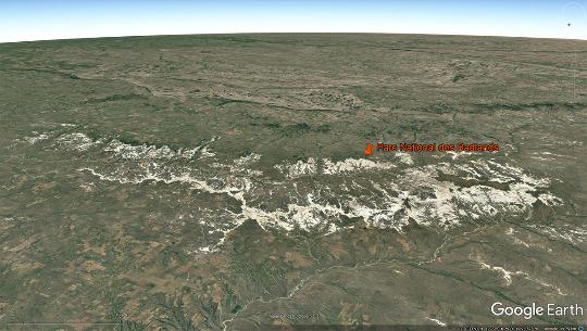 Vue globale de l'ensemble des badlands du Dakota du Sud