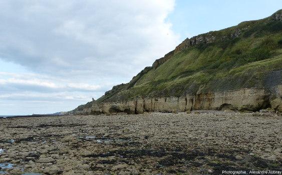 Vue sur les falaises de Sainte Honorine-des-Pertes, Calvados