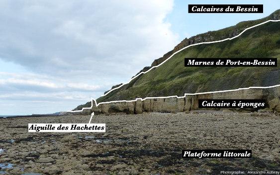 Vue interprétée sur les falaises de Sainte Honorine-des-Pertes, Calvados