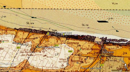 Localisation géologique des affleurements