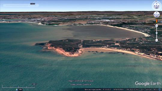 Vue aérienne de la presqu'ile du Chay, Charente-Maritime
