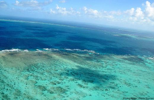 """La """"côte"""" Sud-Sud-Est de Moore Reef, Grande Barrière de Corail, Australie"""