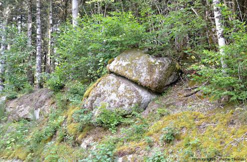 Mini-chaos granitique près de la carrière de Saint-Julien-la-Vêtre