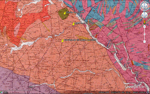 Extrait de la carte géologique de Noirétable à 1/50000