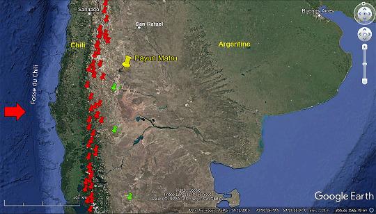 Cadre structural du volcanisme holocène d'Argentine et du Chili central