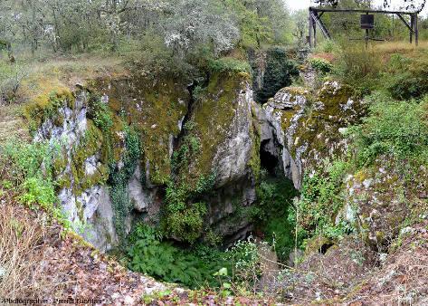 Le Cloup d'Aural (Lot), vu du dessus