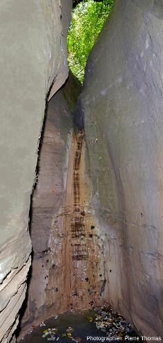 La branche Est du canyon se termine par une cascade, quasiment à sec pendant l'été 2020