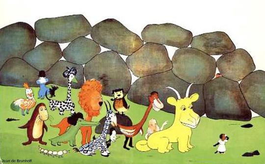 Les cailloux à l'origine du mot gogotte, dans Les vacances de Zéphir (Hachette)