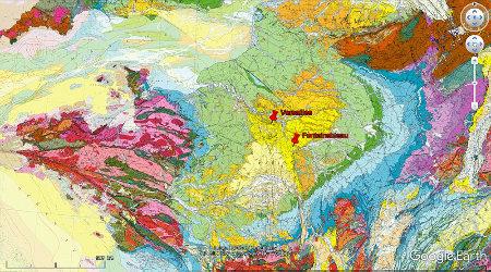 Localisation des Sables de Fontainebleau et de Versailles dans le Bassin Parisien