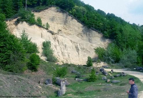 L'un des sites de la réserve nationale du musée des trovants, Costesti, Roumanie