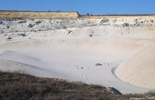 Une carrière de Sable de Fontainebleau en activité telle qu'elle était en janvier 2009 à Larchant (3,5km à l'Ouest de Puiselet)