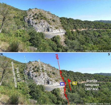 La Faille Nord-pyrénéenne à 1,5km à l'Est de Sournia (Pyrénnés-Orientales)