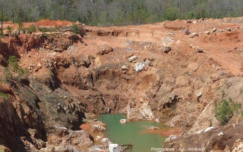 Vue générale de la Ron Coleman Mine, Arkansas
