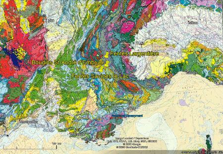 Localisation des trois sites étudiés, dans les Alpes franco-italiennes