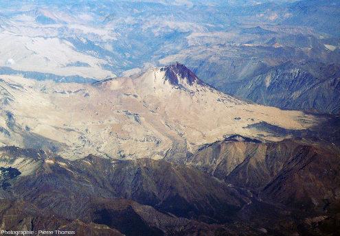 Vue détaillée sur le Cerro Azul, Andes chiliennes
