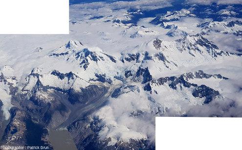Terminaison Nord du Champ de glace Nord de Patagonie, Chili