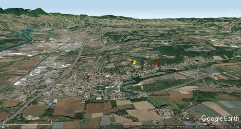 Vue du rebord Sud du plateau de Louze (Isère)