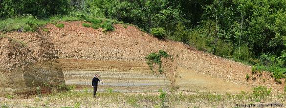 Vue d'ensemble du second affleurement de Chanas (Isère) tel qu'il était en juin 2016