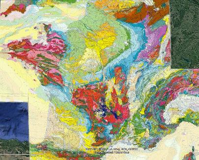Localisation du paléo-lac würmien du Trièves sur la carte géologique de France
