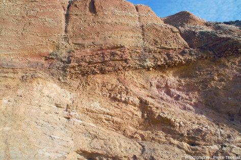Zoom arrière sur la discordance Pléistocène / micaschistes paléozoïques, Pénestin (Morbihan)