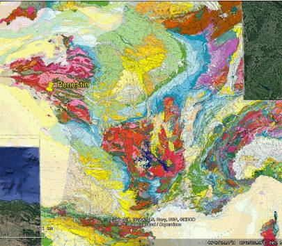 Localisation de Pénestin sur la carte géologique de France