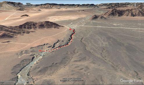 Vue aérienne du canyon de Sesriem, Namibie