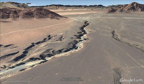 Vue aérienne rapprochée du canyon de Sesriem, Namibie