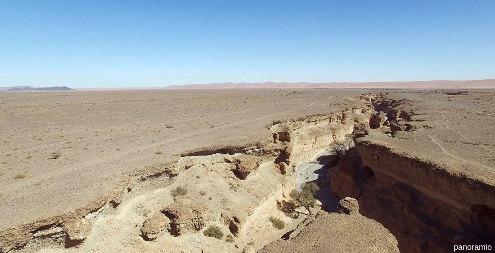Vue aérienne du canyon de Sesriem (Namibie) prise depuis un drone