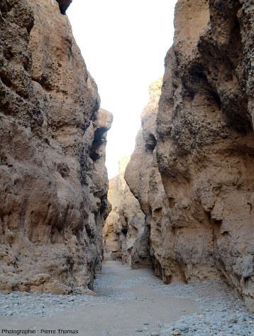Parcours d'aval en amont tout le long du canyon de Sesriem, Namibie, vue 10/11