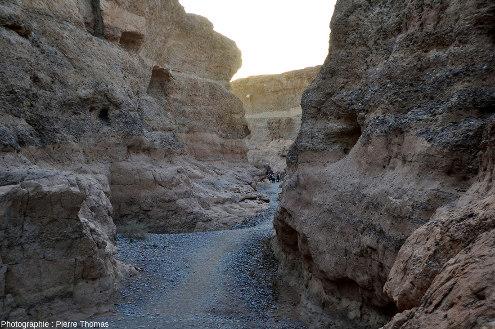 Parcours d'aval en amont tout le long du canyon de Sesriem, Namibie, vue 11/11