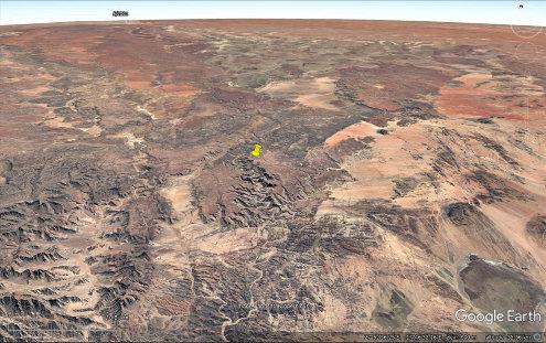 Vue aérienne du canyon de la Fish River (punaise jaune), Namibie