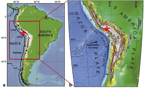 Carte structurale simplifiée des Andes centrales