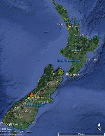 L'amont de la Godley River dans les Alpes du Sud de Nouvelle-Zélande