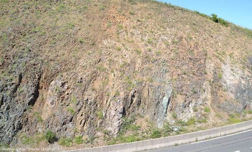 Vue sur la partie Est de la tranchée de la D101, Rhône