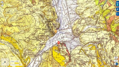 Extrait de la carte géologique de Guillestre à 1/50000