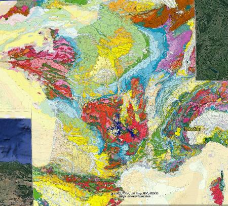 Localisation de Réotier (Hautes-Alpes) sur de la carte géologique de France
