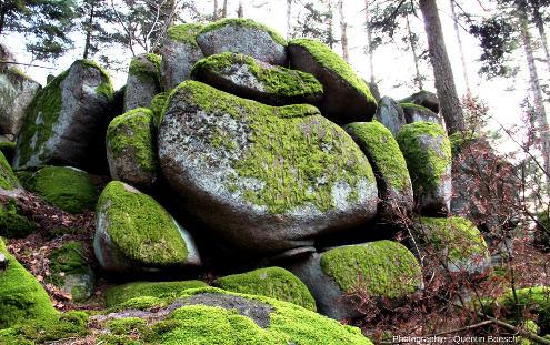 Chaos granitique à proximité du rocher Turenne