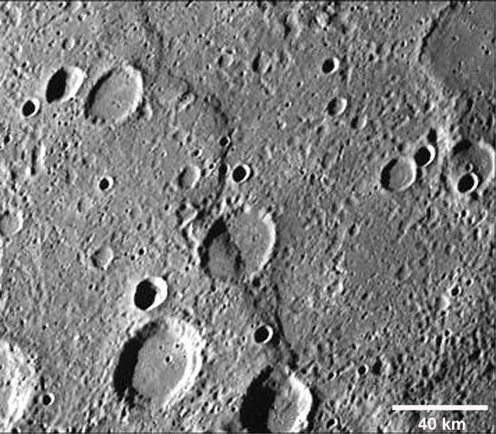 Une structure compressive sur Mercure