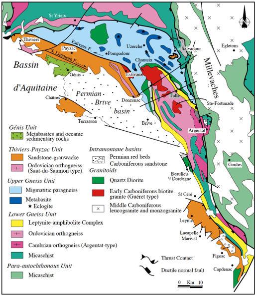 Carte du Limousin méridional