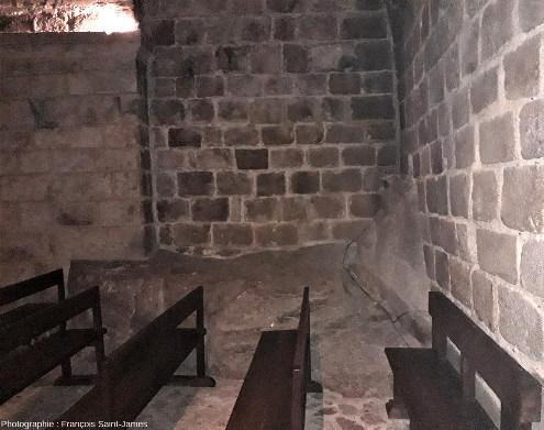 Affleurement du granite du mont dans l'abbaye du Mont-Saint-Michel