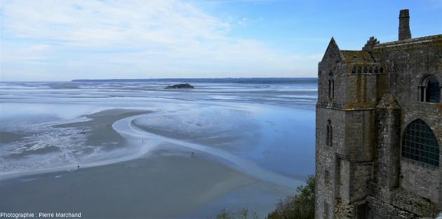 Vue de Tombelaine depuis le Mont-Saint-Michel