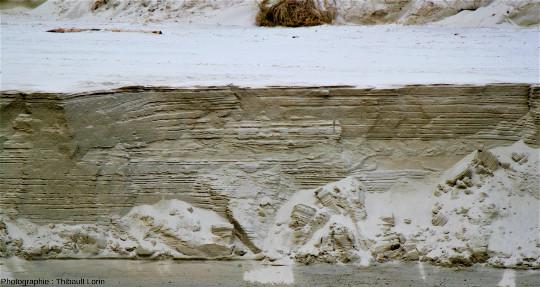 Exemple de tidalites sur la plage du Guille, Plougoulm