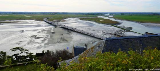 Paysage du littoral, vu depuis le Mont-Saint-Michel