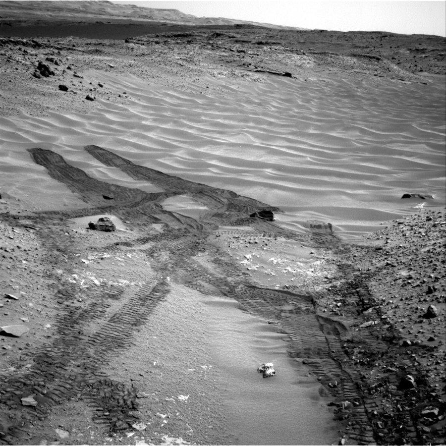 Traces de roulement dans les dunes de Hidden Valley