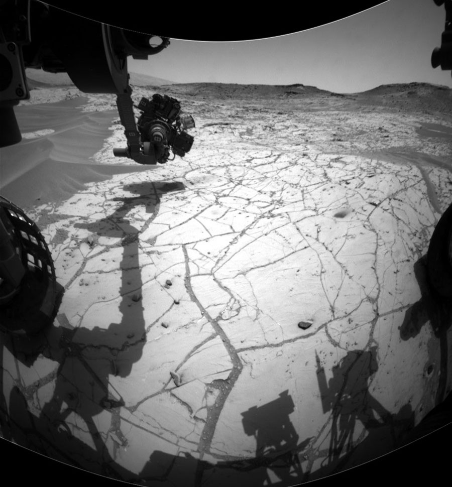 Curiosity vient d'effectuer un forage (son quatrième depuis 2 ans) dans le secteur de Confidence Hills (sol 777)