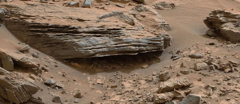 Détail des strates de Whale Rock, sol 796